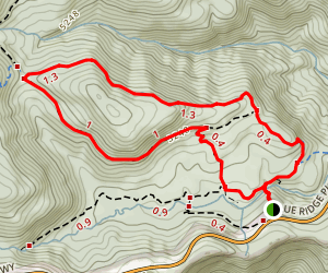 Graveyard Ridge Trail and Mountains to Sea Trail Loop Map