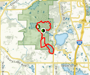 Murphy Lake to Minnregs Lake Trail Map