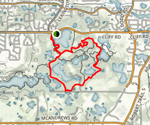 Holland and O'Brien Lakes Trail Map