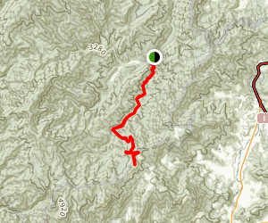 Hemphill Bald via Caldwell Fork Trail Map
