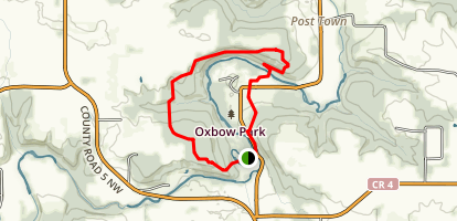 Zumbro River via High Meadow Trail Map