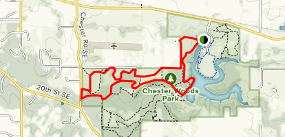 Chester Lake via North Trail Map