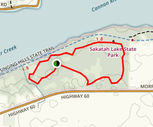 Sakatah Lake State Park Campground Map