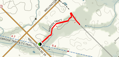 Marden Tract Trail Map