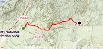 Zion Park Scenic Byway: Hurricane to Mt. Carmel Junction Map