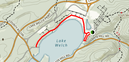 Lake Welch Beach Trail Map