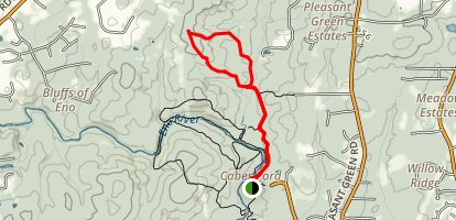 Ridge and Shakori Trails Loop Map