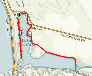 Lake Ogallala Trail Map