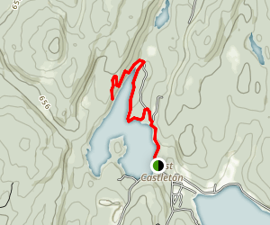 Glen Lake Trail Map