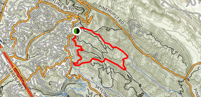 East Ridge Trail to West Ridge Trail Loop Map