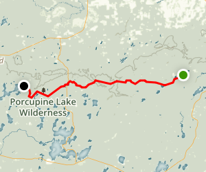 Marengo River and Porcupine Lake via North Country Trail Map