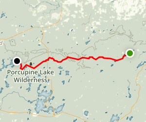 Marengo River And Porcupine Lake Via North Country Trail - Map of wisconsin lakes and rivers