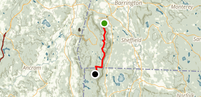 Appalachian Trail from Jug End to Bear Mountain Map