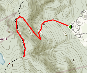 Elbow Trail via Appalachian Trail Map