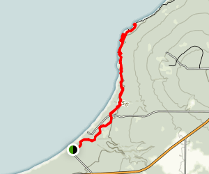 Meyers Beach Sea Cave Trail Map