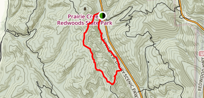 Zigzag Trail 1 and 2 Loop Map