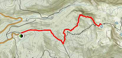 Heather Lake via the Watchtower Map