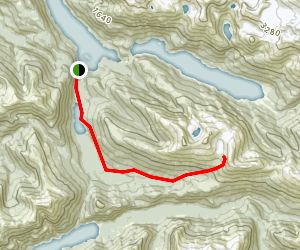 Redoubt Lake Trail Map