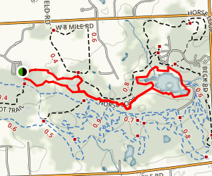 Maybury State Park Hiking Trail Loop Map