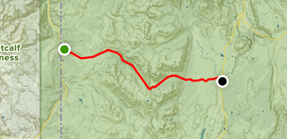 Bighorn Pass Trail from US 191 Map
