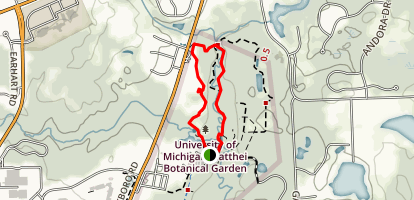 Matthaei Botanical Gardens Trails Map