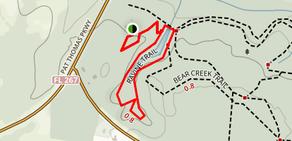 Ravine Trail at Bear Creek Educational Forest Map