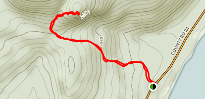 Echo Cliff via Panther Mountain Trail Map