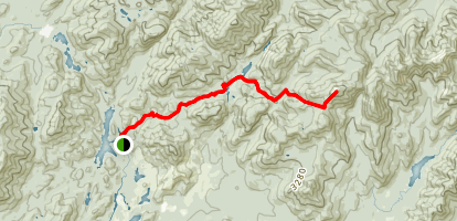 Mount Marcy from Upper Works Trail Map