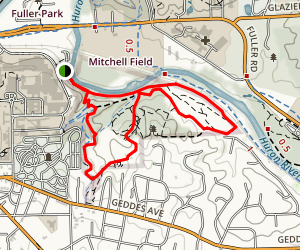 Nichols Arboretum Loop Trail Map