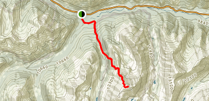 La Plata Peak North Trail Map