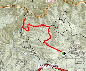 Mount Vernon Columbine to Clear Creek [PRIVATE PROPERTY] Map