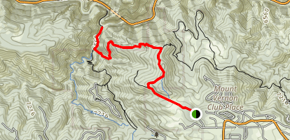 Mount Vernon Columbine to Clear Creek Trail [PRIVATE PROPERTY] Map