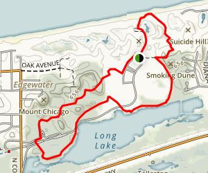 West Beach Loop with Scallop Dunes and Long Lake Trail Map