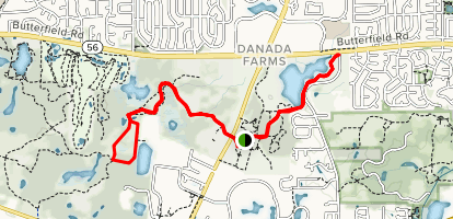 Danada-Herrick Lake Regional Trail Map