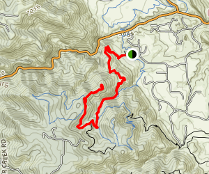 Golden Eagle Trail to Bill Couch Mountain Map