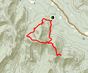 Twin Mountain and Sugarloaf Mountain Loop Trail Map