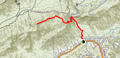 Goat Hill via Telegraph Pass Trail Map