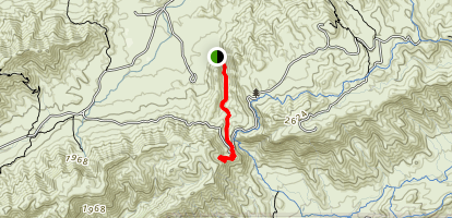 Kiwanis Trail to Telegraph Pass Lookout Map