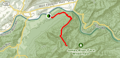 Balcony Falls Trail Map