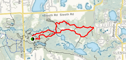 River, Red, and Blue Trails Loop Map