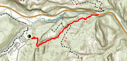 Cohab Canyon Trail Map