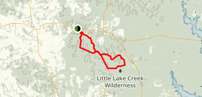 Lone Star Hiking Trail and Little Lake Creek Trail Map