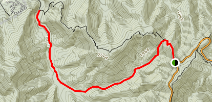 Brown Rocky Mountain Trail Map