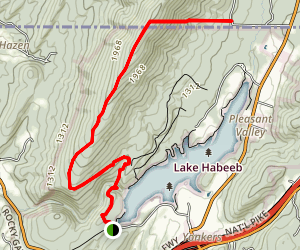 Rocky Gap Canyon to Evitts Summit Trail Map