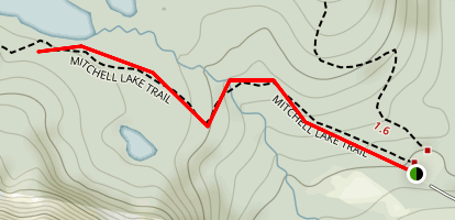 Mitchell Lake Trail Map