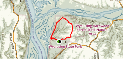Wyalusing State Park Loop Trail Map