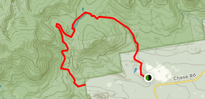 Flat Mountain Pond Trail Map