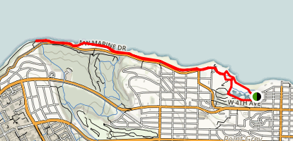 Spanish Banks and Jericho Beach Map