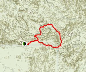 Whiskey Spring Red Tanks Miners Canyon Loop Trail Map