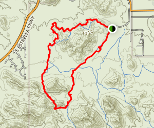 Rainbow Valley to Toothaker Loop Trail Map